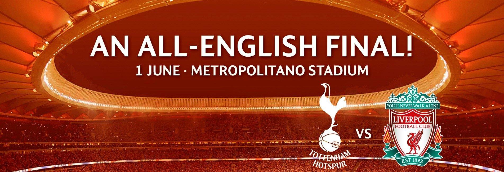 2019 Champions League Final: Tottenham-Liverpool