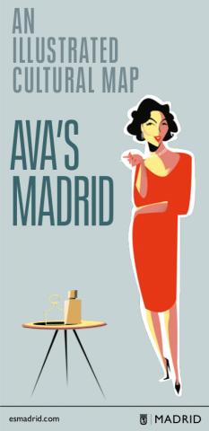 An illustrated map of Ava Gardner's Madrid