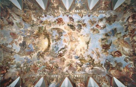Bóveda con la Apoteosis de la Monarquía Española GIORDANO, LUCA  © Museo Nacional del Prado