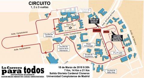 Circuito XXXVIII Medio Maratón de la Ciudad Universitaria