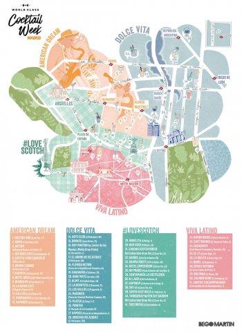 Cocktail Week Madrid mapa ampliado