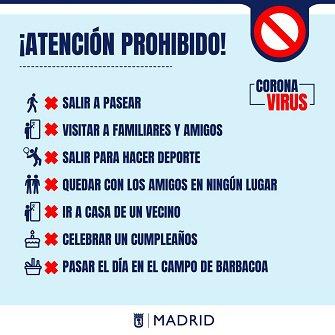 Prohibiciones de movilidad a causa del coronavirus