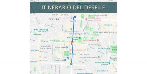 Itinerario desfile Fiesta Nacional Madrid 12 octubre 2018