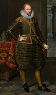 GERARD REYNST (C.1568 – 1615), 2ND GOVERNOR-GENERAL OF THE DUTCH EAST INDIES. FRANS BADENS (1571 – 1618). 1613. Oil on canvas76 5⁄8 × 46 7⁄8 in. (194.5 × 119 cm.) © The Weiss Gallery