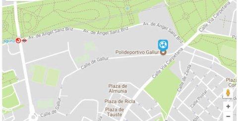 Mapa localización Centro Deportivo Municipal Gallur