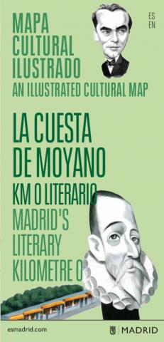 Mapa cultural ilustrado La cuesta de Moyano. KM 0 literario (PDF). Pulsa para descargar