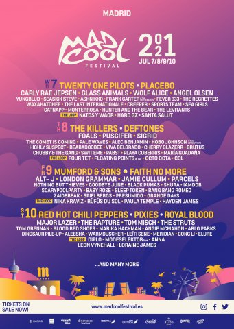 Cartel / Line Up Mad Cool 2021
