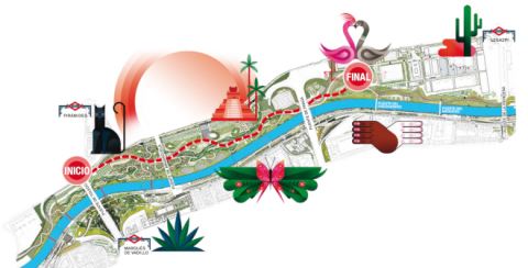 Plano desfile / pasacalles Carnaval Madrid 2020. Pulsa en la imagen para ampliar.