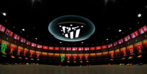 Vestuario del Atlético de Madrid. Tour Wanda Metropolitano