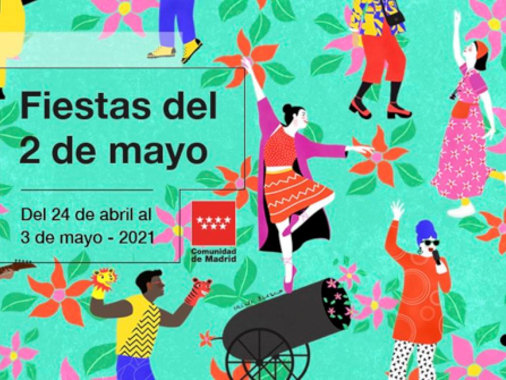 Programación Fiestas del 2 de Mayo 2021 (24 abr - 3 may) de la Comunidad de Madrid