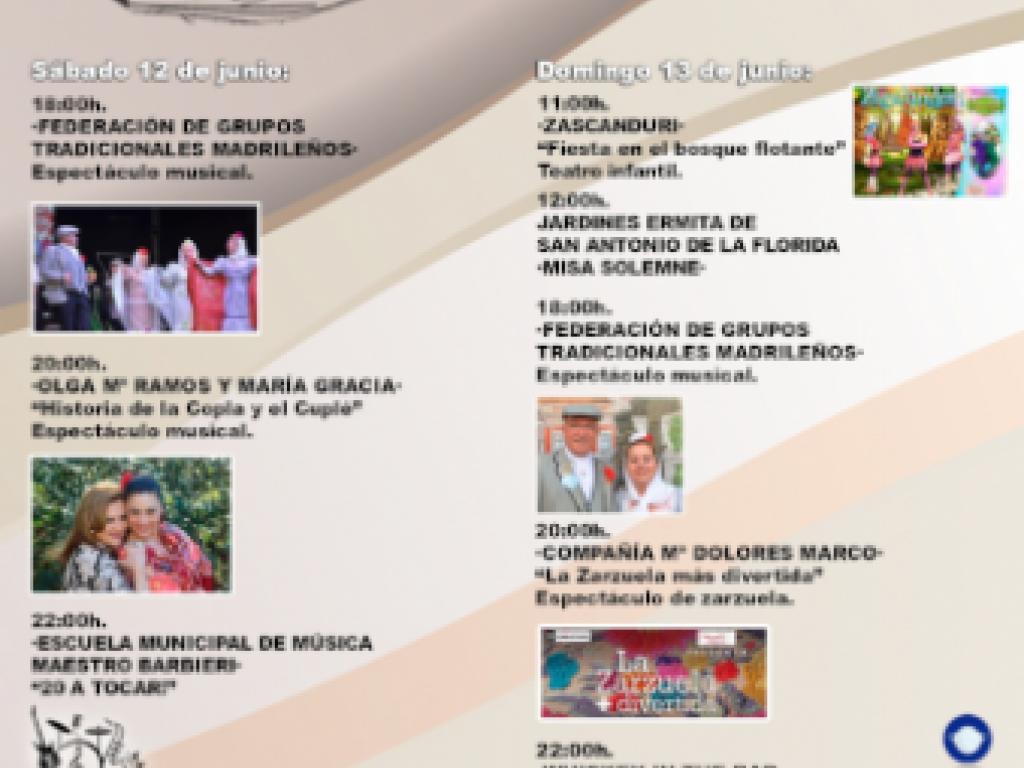 Programa de las Fiestas de San Antonio de la Florida 2021. Pulsa para ampliar