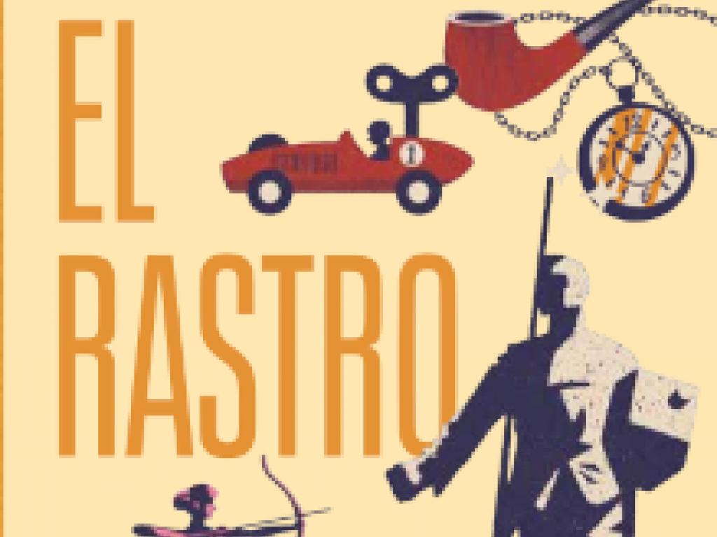 Mapa cultural ilustrado El Rastro (PDF). Ilustración: Daniel Diosdado