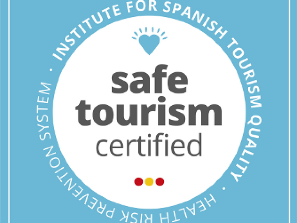 Sello Safe Tourism Certified otorgado por el ICTE