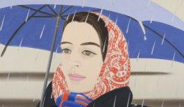 Alex Katz. Blue Umbrella. 1972. Óleo sobre lienzo. 244 x 366 cm. Peter Blum NYC
