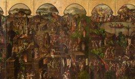 Detalle de Biombo de la Conquista de México y La muy noble y leal ciudad de México, h. 1675-92. Madrid, colección particular