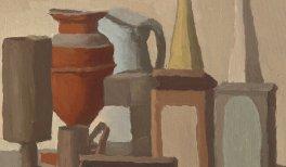 Giorgio Morandi.Natura morta, 1942.Óleo sobre lienzo, 36 × 42 cm.Fondazione Magnani-Rocca, Mamiano di Traversetolo, Parma.© Giorgio Morandi, VEGAP, Madrid, 2021