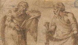 José de Arimatea y Nicodemo con los atributos de la pasión. DIB/18/1/1824