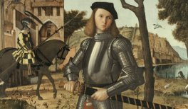 Joven caballero en un paisaje. VittoreCarpaccio(c.1505).Óleo sobre lienzo.218,5 x 151,5 cm.© Museo Nacional Thyssen-Bornemisza, Madrid