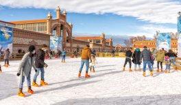 Pista de hielo Matadero Madrid Navidad 2020-2021. @ Álvaro López del Cerro