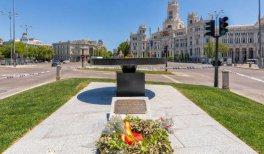 Monumento en recuerdo de las víctimas de la pandemia del Covid - 19. © Madrid Destino