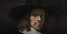 Rembrandt. Retrato de un caballero con sombrero y guantes. h. 1656-58. Washington, National Gallery of Art, Widener Collection
