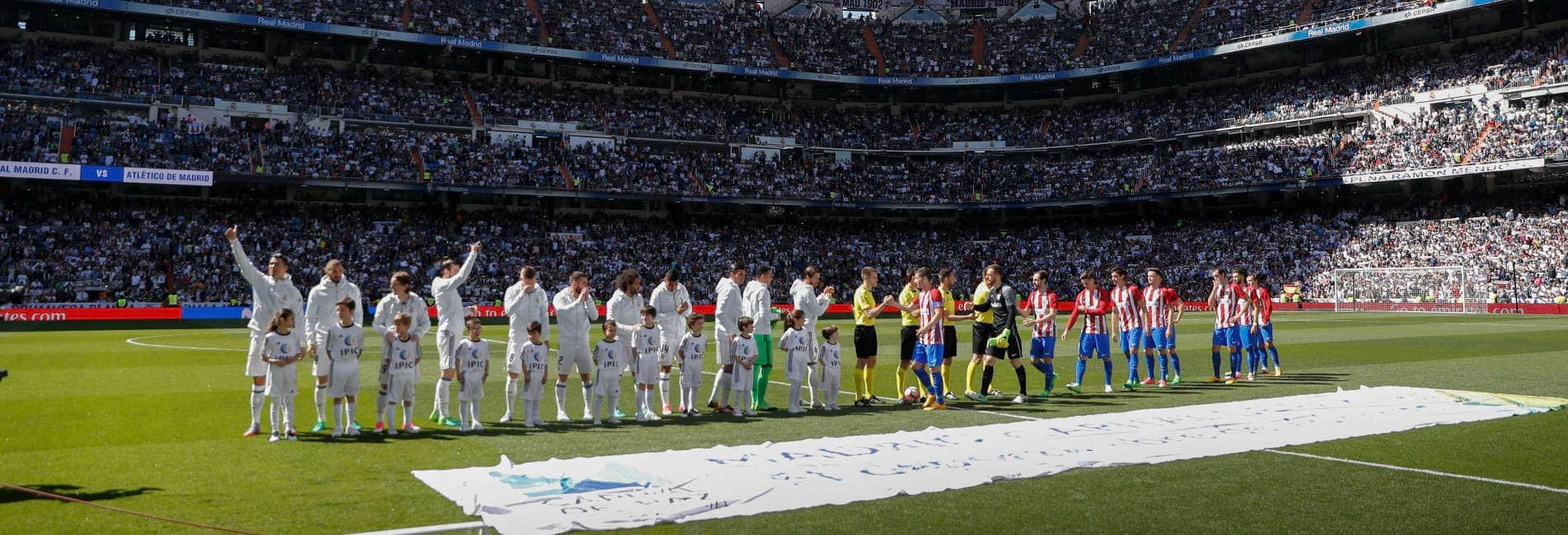 Real Madrid - Atlético de Madrid. Estadio Santiago Bernabéu 8 abril 2017