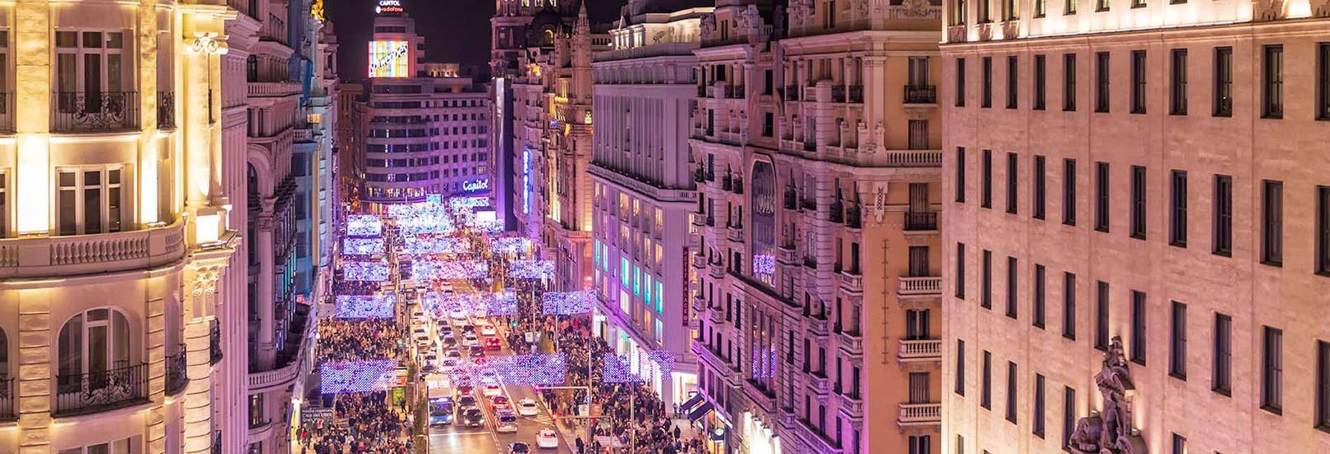Navidad en Madrid 2018-2019. Calle Gran Vía.