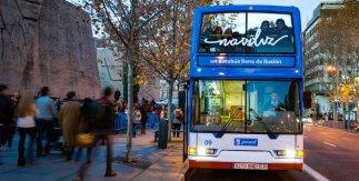 Naviluz, el autobús de la Navidad. Salida y llegada: Plaza de Colón, frente a la calle Serrano, 30