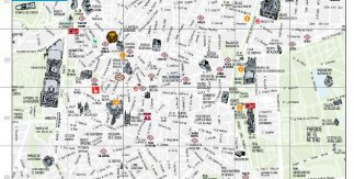Mapa turístico de Madrid enero 2016