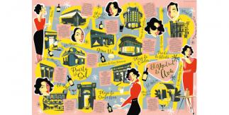 Mapa cultural ilustrado El Madrid de Ava Gardner
