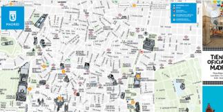 Mapa turístico Madrid julio 2021
