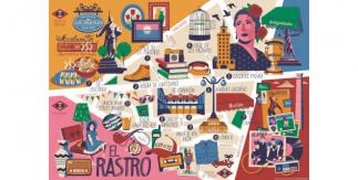 Mapa cultural ilustrado El Rastro (PDF). Ilustraciones: Daniel Diosdado