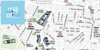 Mapa turístico de Madrid agosto 2019