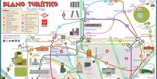 Plano turístico del metro de Madrid (PDF) / Madrid Metro Tourist Map (PDF)