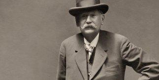 Juan Antonio Cortés.Retrato de Pérez Galdós, hacia 1905.Colección Beltrán de Heredia