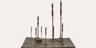 Alberto Giacometti. La Clairière [El claro], 1950. Bronce 61 × 66 × 53 cm, Fondation Giacometti, París. Foto: Fondation Giacometti, París © Alberto Giacometti Estate / VEGAP, 2020