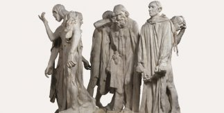 Auguste Rodin. Monument des Bourgeois de Calais [Monumento a los Burgueses de Calais] 1889 (copia moderna) Yeso. 231 × 248 × 200 cm, Musée Rodin, París, inv. E.00070 Foto: © musée Rodin (photo Christian Baraja)