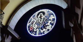 Belén luminoso. Mercadillo de Navidad Plaza Mayor, 2019