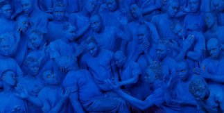 Blue Europe,2015. Courtesy Boxart, Verona​​​​​​​ / Liu Bolin