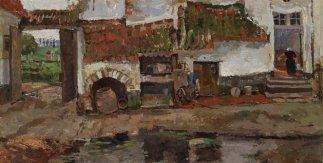 Alrededores de Bruselas. Darío de Regoyos. Óleo sobre lienzo, 101,2 x 70,5 cm. 1881. Madrid, Museo Nacional del Prado. Donación Gerstenmaier