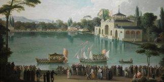 Embarque Real en el Estanque Grande del Retiro de José Ribelles (h. 1820). Museo del Prado (Madrid)