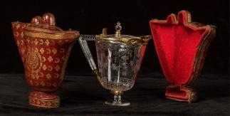 Estuche para jarro de pico cristal. París,1690 - 1711. Cat.O003051. Madrid, Museo Nacional del Prado