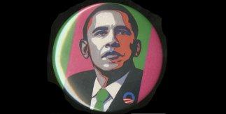 Chapa de Barack Obama, papel, plástico y aluminio, 2008, Estados Unidos© Trusteesof the British Museum