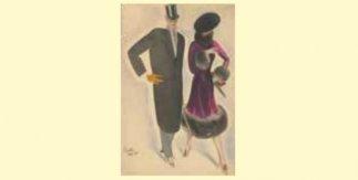 Ismael Cuesta. Elegantes, 1925. Tinta y acuarela sobre papel
