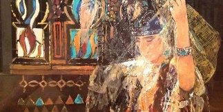 Jewish Bride with Moroccan Motif. Acrylic on Perspex, 40x55cm