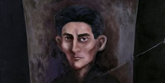 Cementerio, tumba. Frihof, Graben. Serie: Kafka el visionario. 2006. Óleo sobre lienzo / cemento. 195x130 cm.