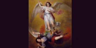 La caída de Luzbel, 1840. Óleo sobre lienzo, 275 x 205 cm.