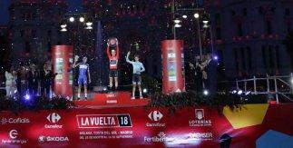 Podio La Vuelta 2018 Plaza de Cibeles