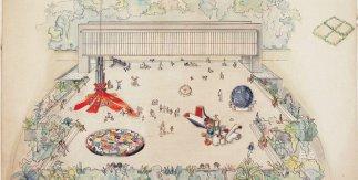 Lina Bo Bardi.Estudio preliminar. Esculturas practicables del Belvedere en el Museu Arte Trianon, 1968