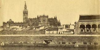 Luís Masson. Interior de plaza de toros y catedral de Sevilla. 1868 aprox.